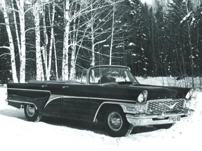 Фотографии автомобилей газ 13 чайка 1961