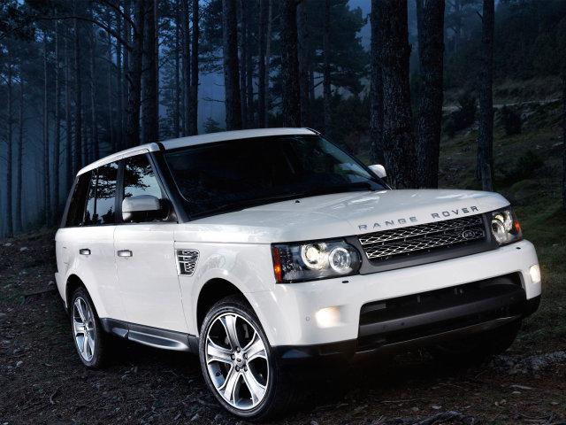 range rover белый фото