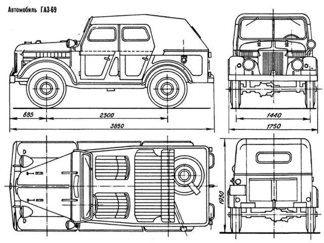 Газ-69 уаз-469. Эл.