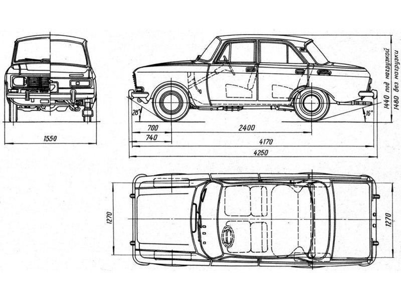 """Москвич-2140 - базовый седан семейства  """"1500 """". * Москвич-2140Д - базовый седан, но с дефорсированным двигателем (на..."""